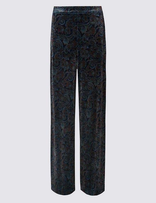 英國大牌M&S超時尚頂級絲絨長褲size: 12