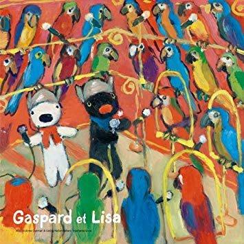 協泰拼圖舖-現貨 144-26 養鳥 麗莎和卡斯柏 Gaspard et Lisa 黑白兔 144片