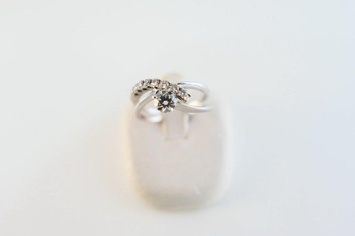 [吉宏精品交流中心]31分 天然鑽石 白K金 八心八箭 造型 戒指