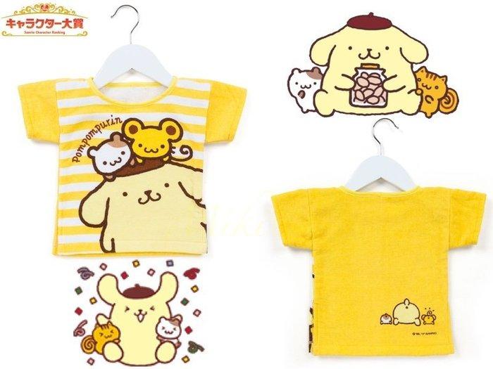 *Miki日本小舖*日本㊣版三麗鷗布丁狗純棉T恤造型擦手巾 附專用衣架