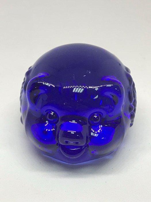[晶藝坊]琉璃豬(諸事大吉、招財進寶)寶藍色