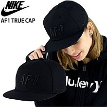 【E.P】NIKE TRUE AIR FORCE 1 AF-1 CAP 黑 刺繡 後扣 891298-010 棒球帽