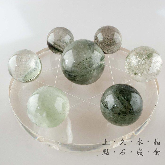 『上久水晶』_頂級天然綠幽靈水晶七星陣___市面少見___主正財__增強正財運及聚財__總重192g
