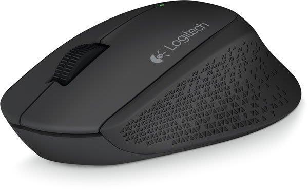 【鳥鵬電腦】Logitech 羅技 M280 無線滑鼠 黑 柔軟橡膠製作的曲線握把 超小型接收器