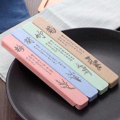 水墨風304不銹鋼筷子套裝1雙單人一雙帶盒創意字個性快子學生便攜