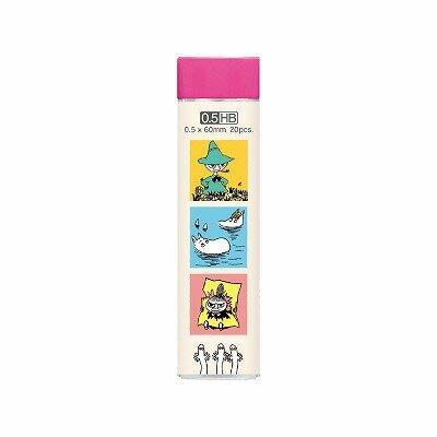 ※FollowV※日本文具《現貨》MOOMIN 慕敏/嚕嚕米/小不點/阿金 0.5mm HB自動鉛筆芯 日本製