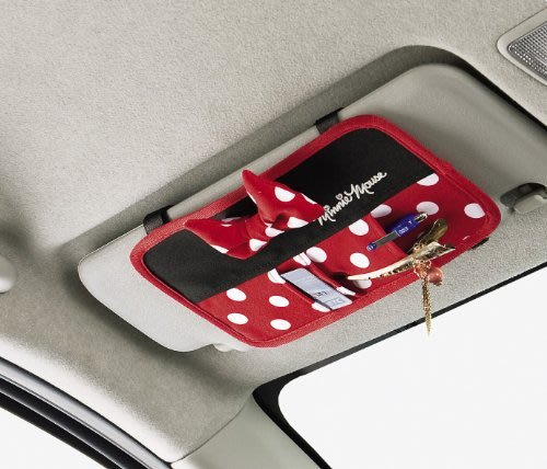 迪士尼Disney《預購》米妮 車用卡片/小物置物袋~日本正品~心心小舖