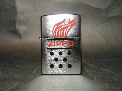 ONE*$1~美系*ZIPPO CHIMNEY FLAME《燃燒中的火炬》拉絲鍍鉻*編號:28783