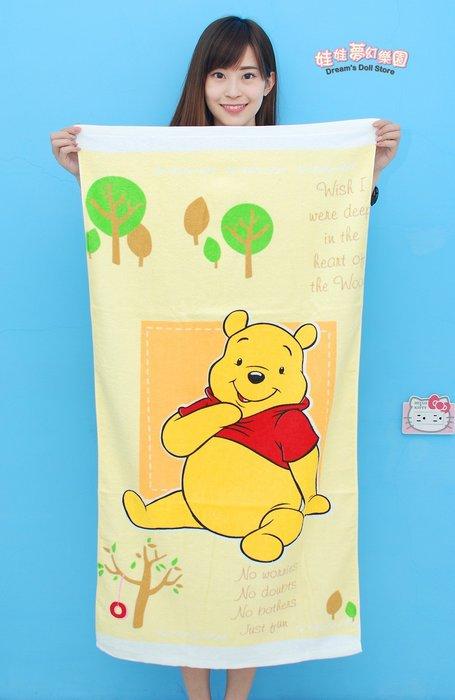 高雄浴巾~正版迪士尼~小熊維尼浴巾/毛巾/海灘巾~小熊維尼大浴巾~台灣製~兒童浴巾~大人浴巾