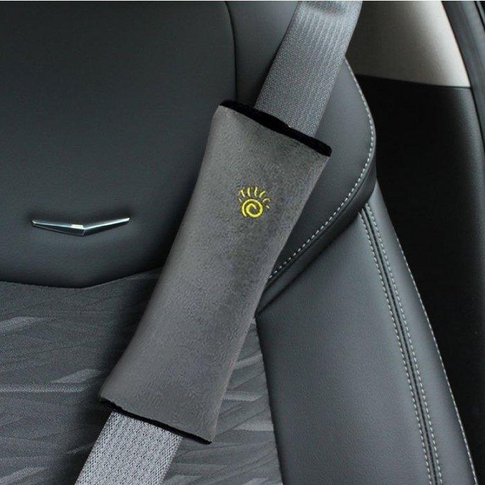 汽車用品 車用安全帶套 安全帶護肩套 汽車用安全帶靠枕 防護抱枕 安全護肩固定器 安全帶防護【ZCR023】SORT