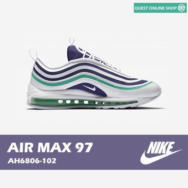【QUEST】NIKE AIR MAX 97 ULTRA GRAPE 機能 氣墊 紫白綠 女鞋 AH6806 102