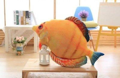 ☆汪汪鼠☆【20公分】彩色熱帶魚玩偶 仿真抱枕 絨毛娃娃 海洋生物 聖誕節交換禮物 創意ZAKKA雜貨