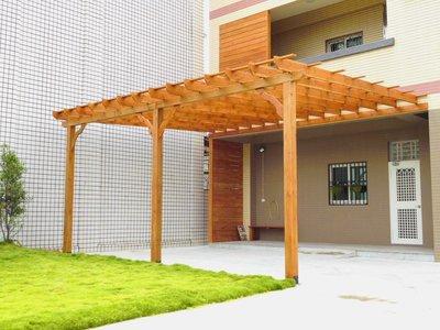 庭院 採光 玻璃 採光罩 車庫 遮雨棚 遮陽棚 雨遮  南方松 原木【園匠工坊】免費到府估價