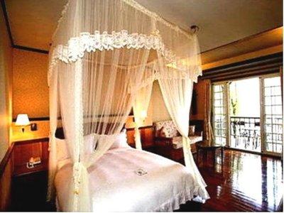 床罩五星級大飯店民宿汽車旅館專用純白色系列5尺x6.2尺精梳棉有裙子床罩