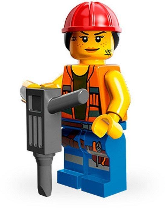 絕版品【LEGO 樂高】玩具 積木/ Minifigures人偶包系列: 樂高玩電影 71004 單一人偶: 蓋兒女工人