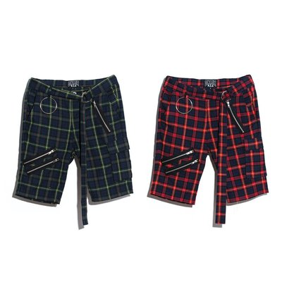 【MASS】ON-AIR 17 S/S CHECK SHORTS 格紋短褲 紅 / 綠 S M L