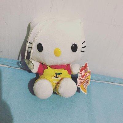 全新Hello kitty 吊帶工人褲套裝公仔連吊牌