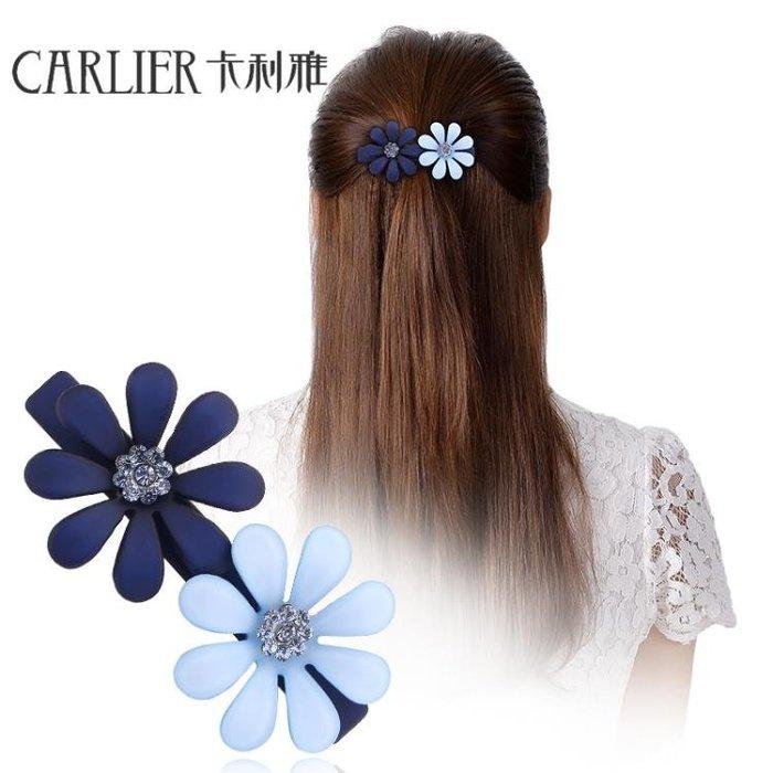 卡利雅新款小髮夾髮卡正韓頭飾彈簧夾邊夾盤髮頂夾橫夾頭花一字夾