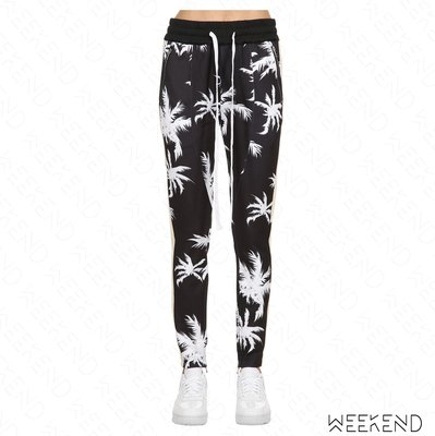 【WEEKEND】 LIFTED ANCHORS Jenner Palm Tree 休閒 拉鍊 長褲 黑+白色 18秋冬