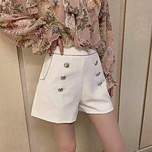 ❤公主的著衣❤正韓空運~雙排扣高腰毛呢短褲