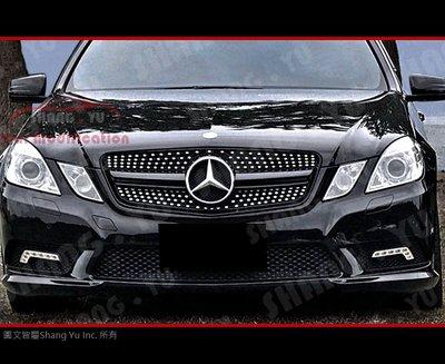 BENZ W212 E-CIass 水箱罩 (黑) 2010 2011 2012 2013 E63 E43 AMG