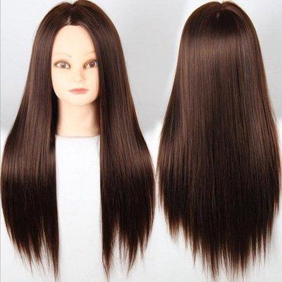練習用假髮帶人頭【NF182】化纖高溫絲編髮假髮頭模假髮練習頭美髮盤髮模特頭化妝假人頭