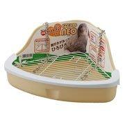 Marukan 小動物防污底網 兔便盆 貂便盆 鼠便盆 兔廁所MR-985(米黃)每個370元
