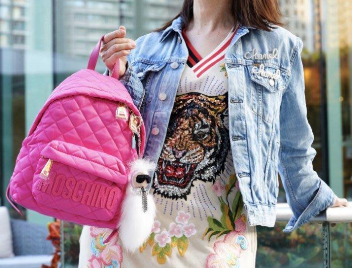 Moschino backpack 小型後背包 桃紅 MOSCHINO