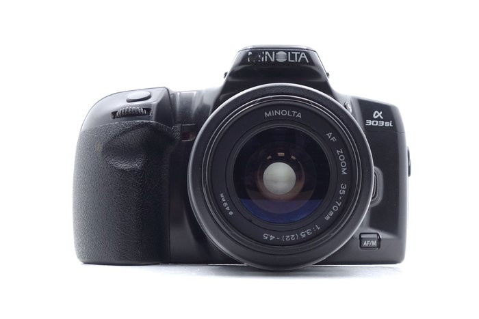 【台中青蘋果競標】Minolta 303Si + 35-70mm 底片相機 瑕疵機出售 料件幾出售 #48829