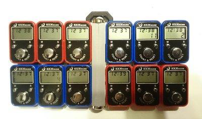 12個 鈕扣電池液晶顯示計數器, 一按即可重置為零。