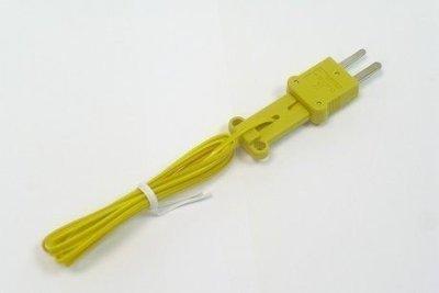 TECPEL 泰菱 》TPK-01 K 型熱電偶 溫度測線  K-TYPE 溫度線 1米長 K-Type -50℃~200℃ 全長1M