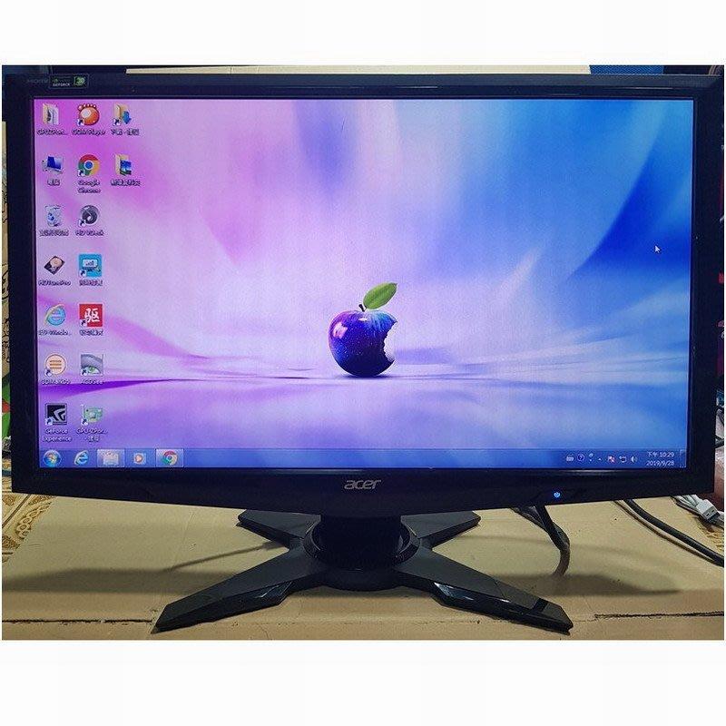 宏碁 P224W B 22吋 FullHD LED螢幕、D-Sub、HDMI、DVI 輸入﹝附 VGA線 / 電源線﹞