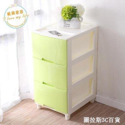 ZIHOPE 收納櫃塑料抽屜式收納櫃嬰兒衣物寶寶衣櫃玩具雜物儲物櫃整理櫃床頭櫃ZI812