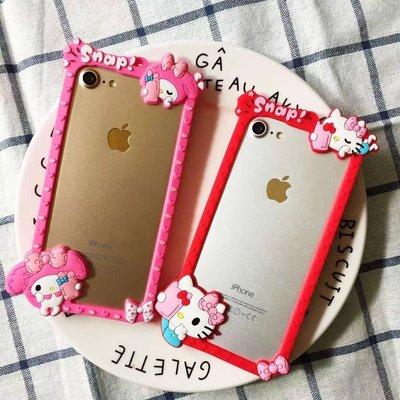 iphone6 6plus 6s 6splus iphone7 7plus手機殼 軟殼 KITTY 美樂蒂 自拍款