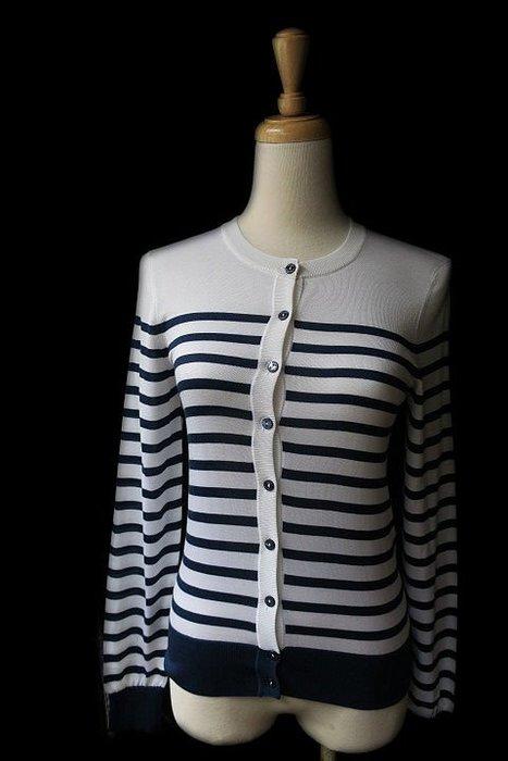 *Beauty*DOLCE&GABBANA藍白條紋開扣針織衫外套  F73ACB 號  9000 元WE19