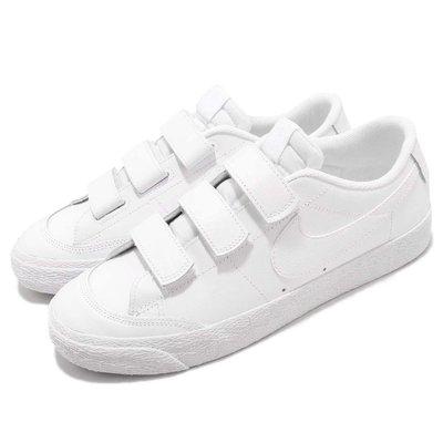 =CodE= NIKE ZOOM BLAZER AC XT SB 魔鬼氈皮革滑板鞋(全白) AH3434-100 男女