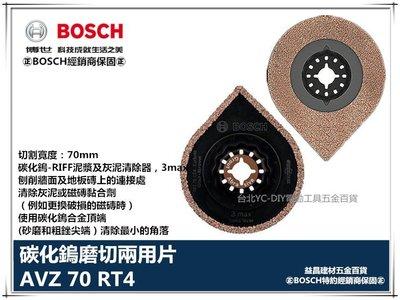 【台北益昌】德國 BOSCH 魔切機配件 AVZ 70RT 碳化鎢-RIFF泥漿及灰泥清除器 3MAX