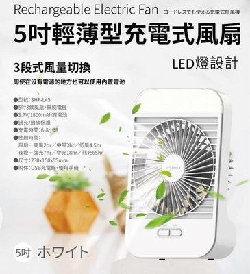 --庫米--SANSUI 山水 日系質感USB充電式方形照明風扇 夜燈/桌扇 SHF-L45