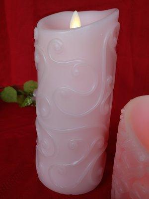 紅牡丹精品館 LED 巴洛克蠟燭氣氛燈 USB充電 。晚餐約會浪漫,情人節  生日禮物