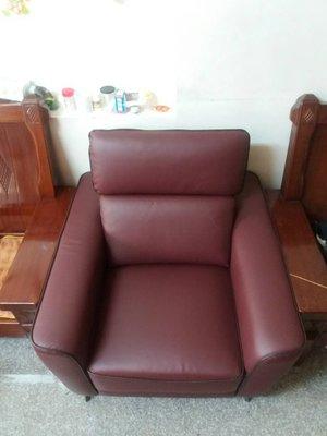 鴻宇傢俱~多瑙河厚皮小牛皮單人位獨立筒沙發-1人座~促銷優惠價~另有折扣價~酒紅色