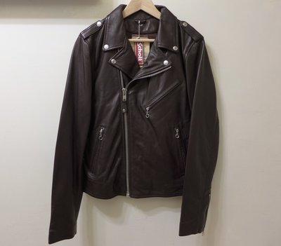 【現貨】全新Schott NYC Perfecto / Double Rider 斜拉騎士皮衣 M號 小羊皮