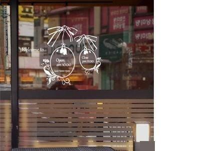 小妮子的家@招牌店舖營業時間壁貼/牆貼/玻璃貼/ 磁磚貼/汽車貼/家具貼/冰箱貼