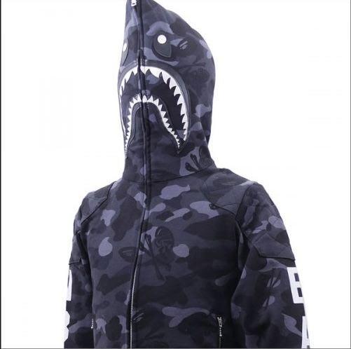 ☆AirRoom☆【現貨】BAPE x NEIGHBORHOOD NHBP.SHARK/C-ZIP HOODED 鯊魚