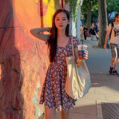 【ZEU'S】夏日甜美復古碎花洋裝『 07119614 』【現+預】G