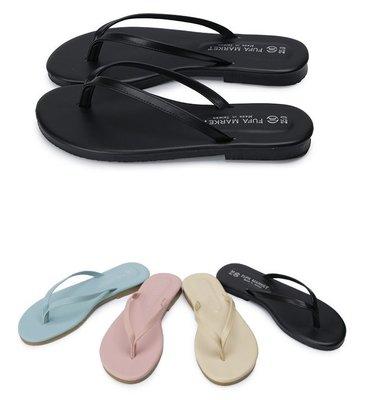 【富發牌】1PN12 棉花糖色系夾腳拖鞋-黑/水藍/粉/杏【采靚鞋包精品】