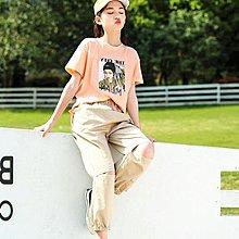 【純棉】現貨女裝夏季新款女生短袖T恤潮T上衣透氣072人像