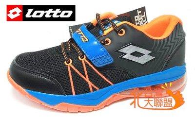 北台灣大聯盟 義大利第一品牌-LOTTO樂得 男童雷神加長型彈力氣墊籃球鞋 2586 黑藍 超低直購價590元