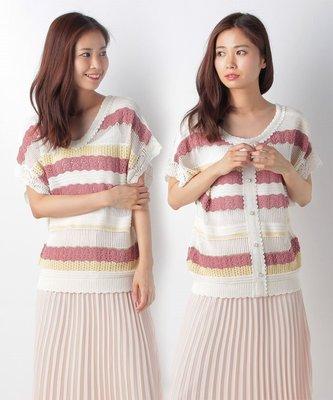【WildLady】 日本甜美氣質鏤空針織衫 排扣前後穿上衣axes