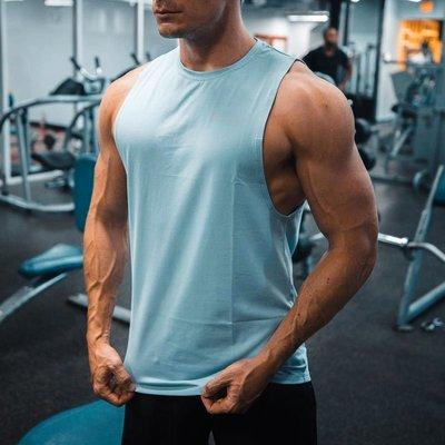 肌肉兄弟健身背心男純棉彈力無袖寬松坎肩上衣夏運動跑步鍛煉T恤健身運動裝