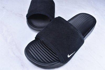 D-BOX  NIKE BENASSI SOLARSOFT SLIDE 純黑色 海邊休閒 拖鞋 水鞋 涼鞋